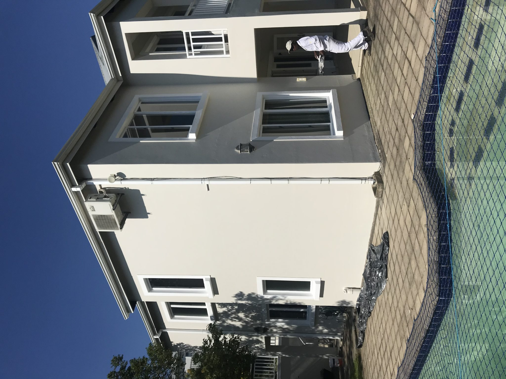 Exterior replastered and painted home in Durban